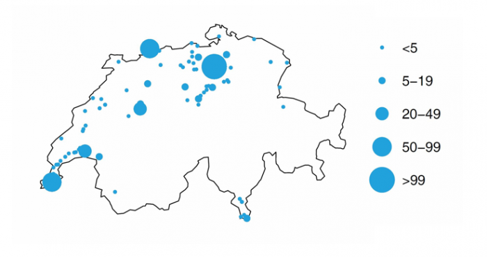 Mapping the data science hotspots in Switzerland